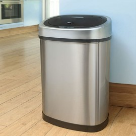 42L Stainless Steel Kitchen Bin