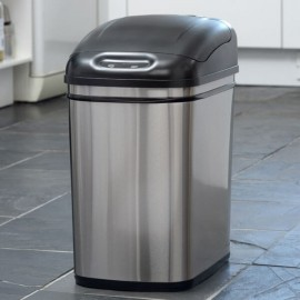 24L Kitchen Bin Stainless Steel
